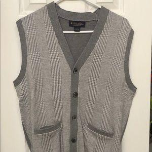 Brooks Brothers Medium Grey Buttoned Vest Sweater